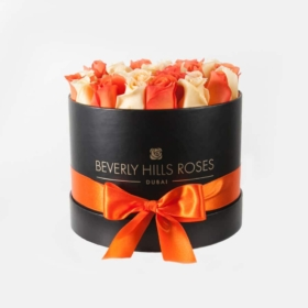Peach & Orange roses in 'Citron'