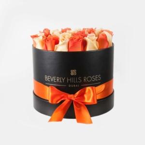 """Flower Box Roses """"Citron"""" in Medium Black Box"""