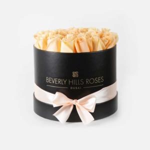 "Rose Flower Delivery ""Prosecco"" in Medium Black Box"
