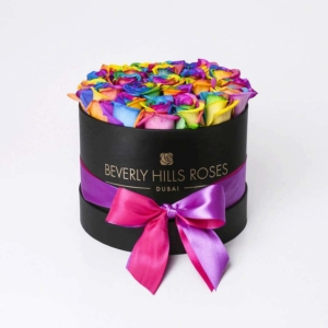 """Buy Fresh Roses Online """"Candy Crush"""" in Small Black Box"""
