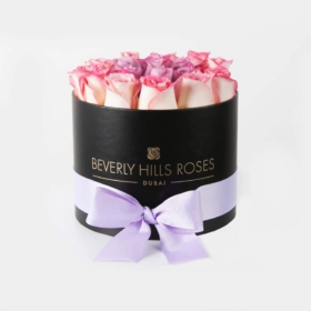 """Birthday Flowers Delivery Dubai """"Miracle"""" in Small Black Box"""