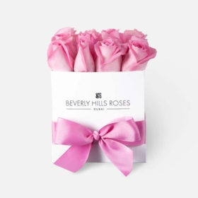 Light Pink roses in 'Baby Girl' – Square box