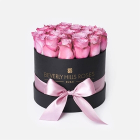 """Rose Flower Shop Near Me """"Candy"""" in Black Small Box"""