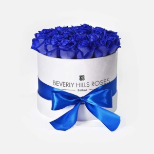 """Blue Roses Delivery """"Blue Lagoon"""" in Small White Box"""