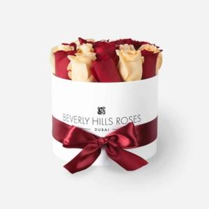 """Fresh Flowers Dubai """"Cherry Vanilla"""" in Small White Box"""