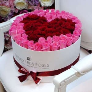 """Red Rose Online """"Affection"""" in Large White Box"""
