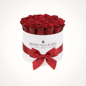 "Red Rose Bouquet ""Hollywood"" in Small White Box"