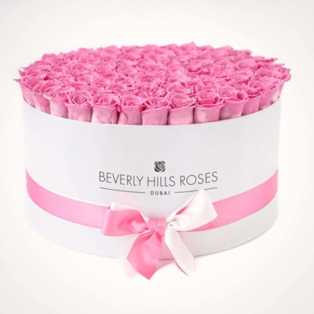 Light Pink roses in 'Baby Girl' – Large white box