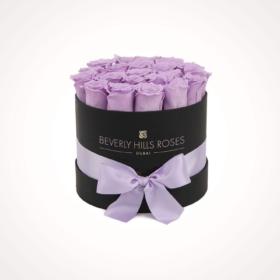 Light Purple roses in 'Vintage' – Small black box