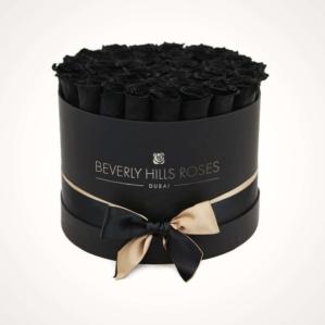 """Best Flower Shop in Abu Dhabi """"Fantasy"""" in Medium Black Box"""