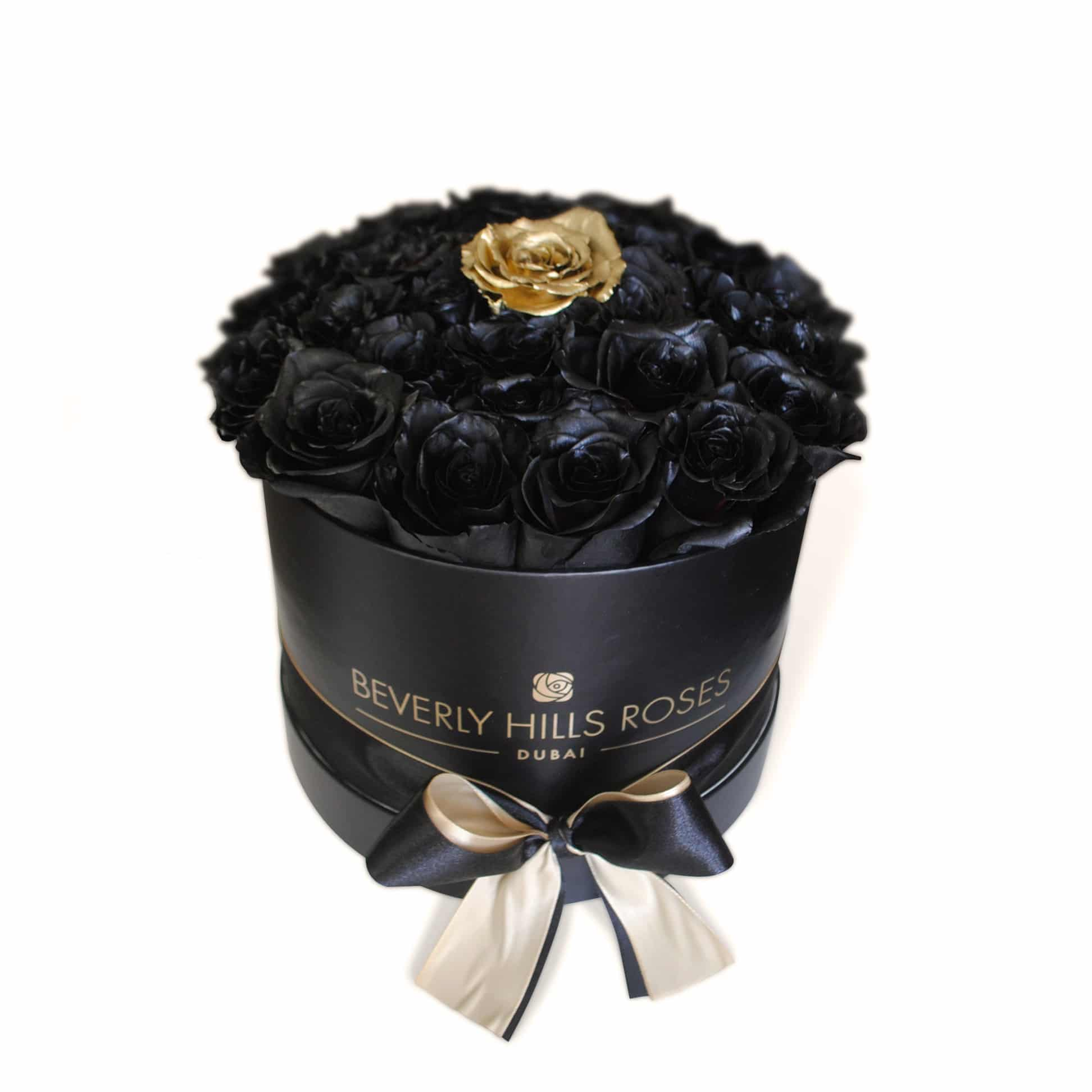 Small black rose box in fantasy for How to make black roses