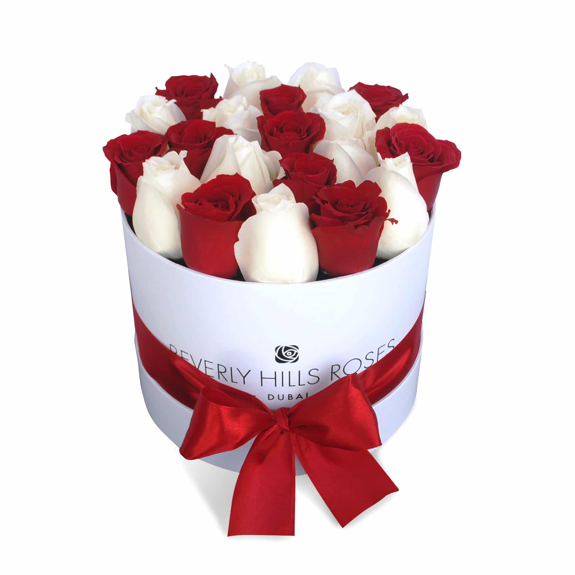 "Rose Delivery Dubai ""Little Love"" in Small White Rose Box Delivery"