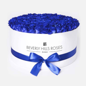 "Order Blue Roses ""Blue Lagoon"" in Large White Box"