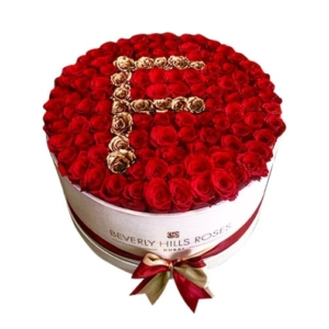 Rose box in letters