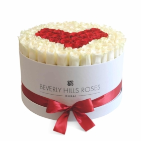 White & Red roses in 'Real Love'