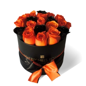 """Deliver Roses to House """"Pumpkin 02"""" in Samll Black Box"""