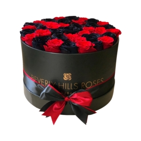 Black & Red roses in 'Enchanted'
