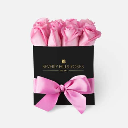 Light Pink roses in 'Baby Girl' – Square black box