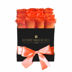 """Small square black rose box in """"Sunset"""""""