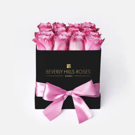 Pink roses in 'Candy' – Square black box