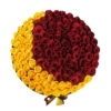 Red & Yellow roses in 'Crescent' – Large black box