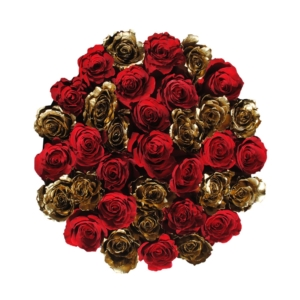 Red & Gold roses in 'Hollywood Star' – Rose box