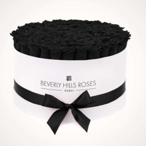 Black Roses Delivery in 'Fantasy' Large White Rose Box