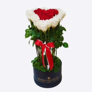 Red & White roses in 'My Sweetheart'