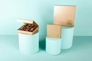Mixed Stuffed Dates in gold Box