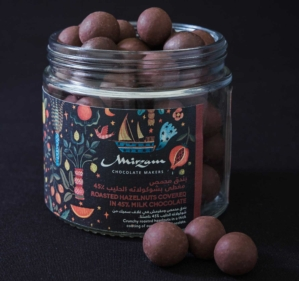 Roasted Hazelnuts Covered in Milk Chocolate