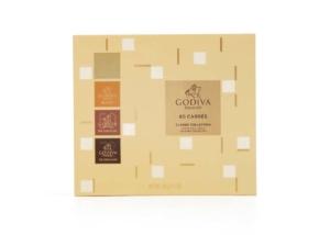 Godiva Milk & Dark Chocolate Carres Collection