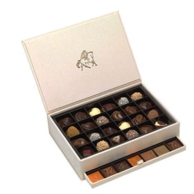 Godiva Pralines and Carres in a luxury Royal box