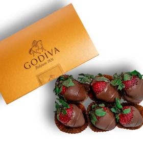 Strawberries Dipped in Godiva Chocolate