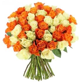 Roses in 'Tangy Orange'
