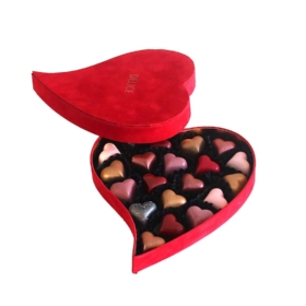 Heart Velvet Box Chocolate Praline