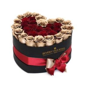 Gold & Red roses in 'Golden Heart'