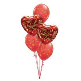 Happy Valentine's Day Balloon Bouquet