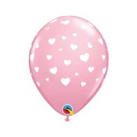 Hearts Pink Balloon