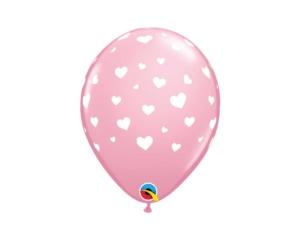 Hearts Pink Balloon