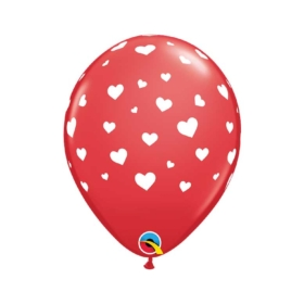 Hearts Red Balloon