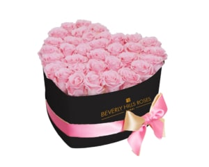 Baby Pink roses in sweetheart Box