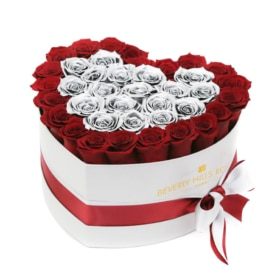 Red & Silver roses in 'Precious'