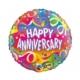 Anniversary Confetti round balloon