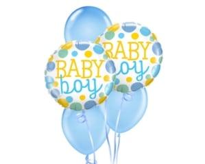 Baby Boy Dots Balloon Bouquet