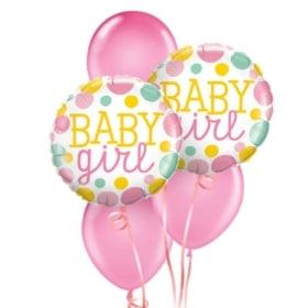 Baby Girl Dots Balloon Bouquet