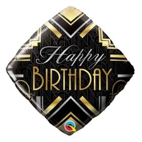 Birthday Art Deco Diamond shape balloon