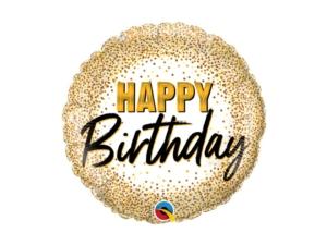 Birthday Gold Helium balloon