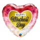 Happy Mother's Day Roses Heart Foil Balloon