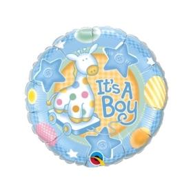 It's A Boy Soft Giraffe Balloon