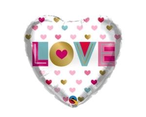 Love you Hearts Foil Balloon